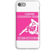 Mixed Martial Arts Knee On Belly Pink iPhone Case/Skin