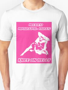Mixed Martial Arts Knee On Belly Pink Unisex T-Shirt