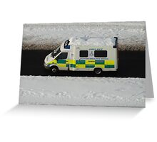 Icy artery Greeting Card