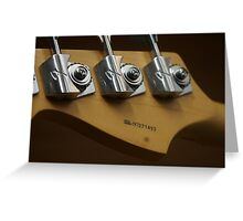 Fender Jazz Greeting Card