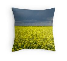 Rape field, Lincolnshire, England Throw Pillow