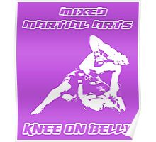Mixed Martial Arts Knee On Belly Purple  Poster