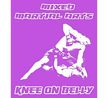 Mixed Martial Arts Knee On Belly Purple  Photographic Print
