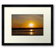 Dusk on the Water Framed Print