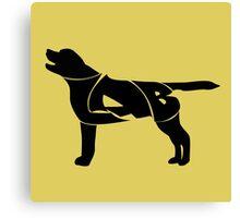 Labrador Golden Retriever Silhuette Canvas Print
