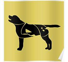 Labrador Golden Retriever Silhuette Poster