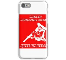 Mixed Martial Arts Knee On Belly Red iPhone Case/Skin