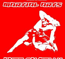 Mixed Martial Arts Knee On Belly Red by yin888