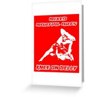 Mixed Martial Arts Knee On Belly Red Greeting Card