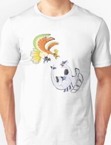 Ho-oh and Lugia - Pokemon Gold and Silver T-Shirt