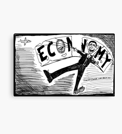 Obama Economy Parachute in Tatters Canvas Print