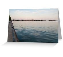 Looking at the Portlands from Sugar Beach Greeting Card