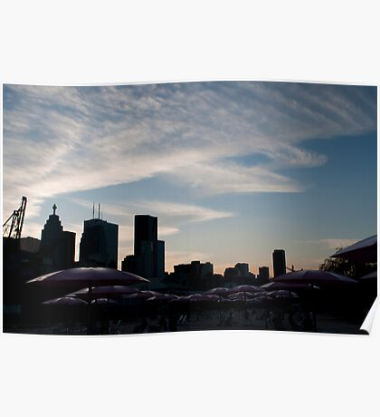 The Skyline at Dusk from Sugar Beach Poster