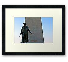 The Man at Bunker Hill Framed Print