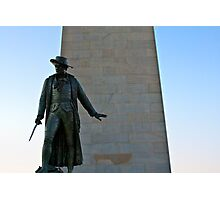 The Man at Bunker Hill Photographic Print