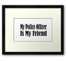 Police Framed Print
