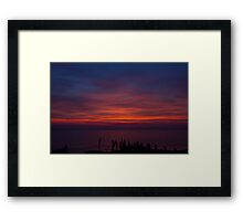 Delaware Bay Sunset Framed Print