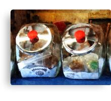 Two Glass Cookie Jars Canvas Print