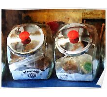 Two Glass Cookie Jars Poster