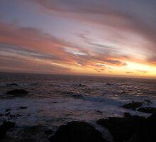 Sunset- Pomo Beach Fort Bragg, CA by LCleaveland