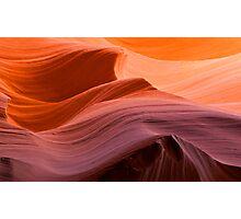 Sunset Waves of Antelope Canyon, Arizona. Photographic Print