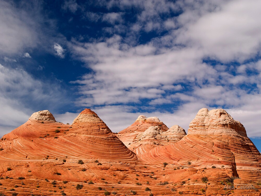 The Coyote Butte Pyramids by Alex Cassels