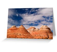 The Coyote Butte Pyramids Greeting Card