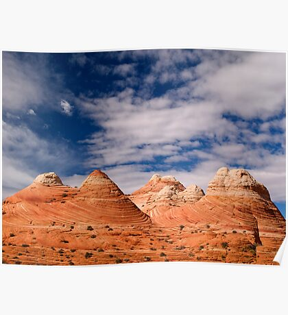 The Coyote Butte Pyramids Poster