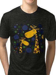 Funky Yellow Giraffes Abstract Art Original Tri-blend T-Shirt