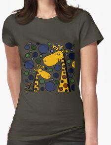 Funky Yellow Giraffes Abstract Art Original T-Shirt