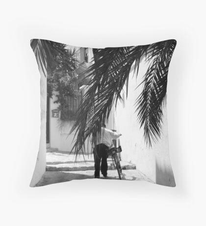 Palm Pathways Throw Pillow