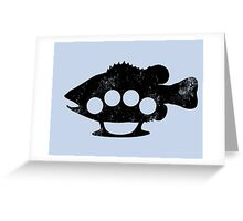 Bass knuckles print Greeting Card