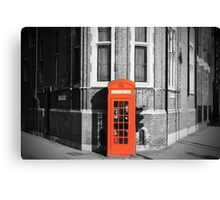 LONDON CALLING RED TELEPHONE BOOTH Canvas Print