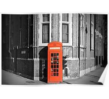 LONDON CALLING RED TELEPHONE BOOTH Poster