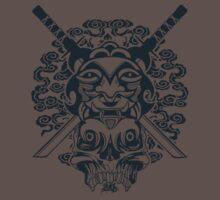 Samurai Mask and Skull Baby Tee