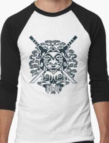 Samurai Mask and Skull Men's Baseball ¾ T-Shirt