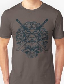 Samurai Mask and Skull T-Shirt