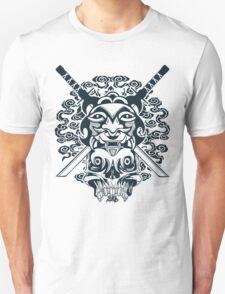 Samurai Mask and Skull Unisex T-Shirt