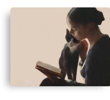 The PurrFect Read Canvas Print