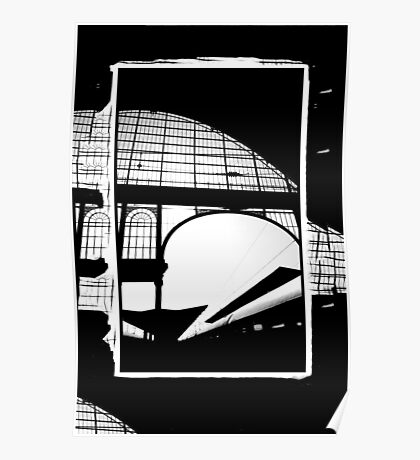 Railway Arch Abstract Nyugati Poster