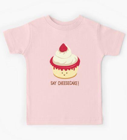 Say CheeseCake! - Pink Version Kids Tee