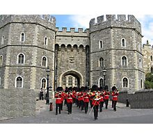 WINDSOR CASTLE AND GUARD Photographic Print