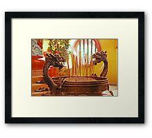 Dragon Joss-Sticks Burner Framed Print