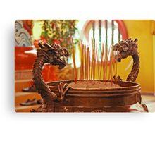Dragon Joss-Sticks Burner Canvas Print