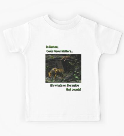 In Nature, Color Never Matters Kids Tee