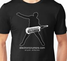 Electronic Rumors:  Keytar Axe-Man, All Synth...All The Time Unisex T-Shirt