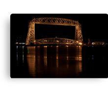 Bridge at night, Duluth Canvas Print