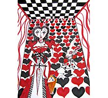 Red Queen of Hearts Photographic Print
