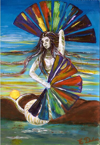 Rainbow Goddess after the Rain by Elisabeth Dubois