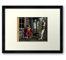An Afternoon at the Cabin Framed Print